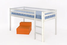 3ft Mid Sleeper - With or Without Slide - In white or Pine - With Mattress