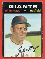 1971 Topps #600 Willie Mays VG-VGEX WRINKLE HOF San Francisco Giants FREE SHIP