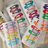 Lots 10Pcs/set Kids Girl Candy Color Hair Clips Snap BB Clips Hairpin Barrettes