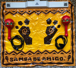 Samba De Amigo Maracas & Mat Controller Set, Sega Dreamcast (Tested)