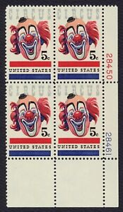 #1309 5c Circus, Plate Block [28450-28461 LR] Mint **ANY 4=FREE SHIPPING**