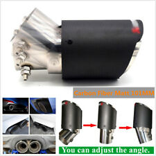 63-101mm Carbon Fiber Matt 101MM Large Angle Adjustable Tips Car Exhaust Pipe
