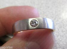 Men's Platinum & 18k  VS1-G  Diamond Wedding Band Ring  size 9   Make Offer