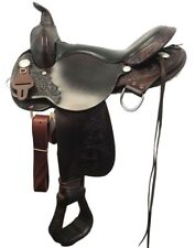 "Circle Y 16"" Round Rock Gaited Trail Saddle Walnut ~ NEW 6870-1601-04"