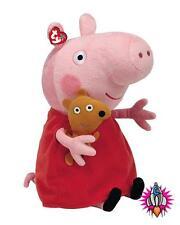"""TY Beanie GIGANTI 22"""" PEPPA PIG DI PEPPA PIG Peluche giocattolo morbido nuovo con etichette"""