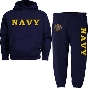 US Navy sweatpants sweatshirt hoodie Navy sweats tracksuit jogging set warm-ups