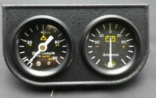 """NOS 2"""" Oil Pressure & Amperes AMP Dual Gauge CHEVY GM HOTROD FORD STREETROD FORD"""