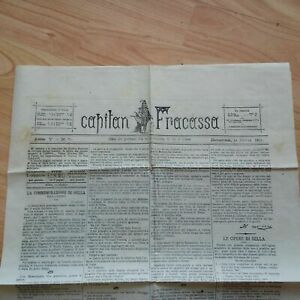 Giornale Capitan Fracassa Commemorazione Quintino Sella 16/3/1884 N 75 LOTTO14