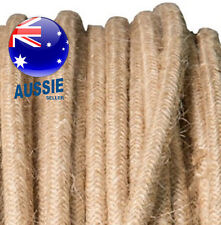Hessian vintage style textile fabric electrical cord cloth cool cable 1m.