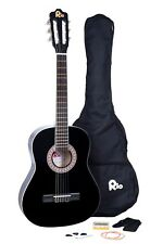 Rio 3/4 Junior Beginner Classical Acoustic Guitar Pack Package Outfit Black