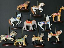 10pc Franklin Mint Carousel Horses Decorative Figurines