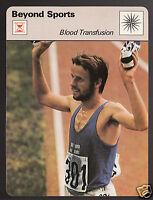 LASSE VIREN Blood Transfusion in Sport 1976 Olympic 1978 SPORTSCASTER CARD 25-24