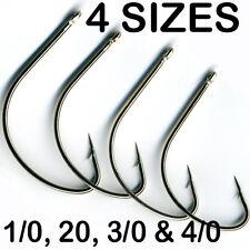 100 x WIDE GAP FISHING HOOKS - 1/0, 2/0, 3/0 & 4/0 save