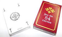 France-Carte Jeu de 54 Cartes Brigde Poker Canasta 8,5 x 5,5 cm Carte Plastifié