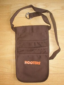 New Authentic Hooters Girl Uniform Brown Money Pouch Halloween Costume Adjust