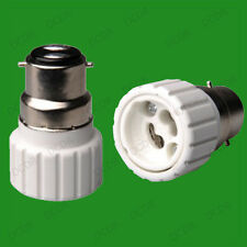 40x Bayonet BC B22 To GU10 Light Bulb Base Socket Adaptor Lamp Converter Holder