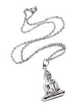 """Sitting Buddha Pendant Buddhist 18"""" Chain Necklace Jewellery Gift"""