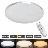 Deckenlampe Wohnzimmer LED mit Fernbedienung 48W Deckenleuchte Dimmbar CCT