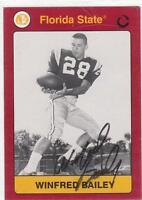 WINFRED BAILEY Autographed Signed 1991 card FSU Florida State Seminoles COA
