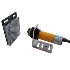 Photoelectric Proximity Sensor Switch 3 Wire DC 6-36V NPN NO M18 IR & Reflector