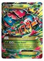 Venusaur 2/83 Gold Mega EX Card Pokemon Collection Plastic Card Free 2 EX