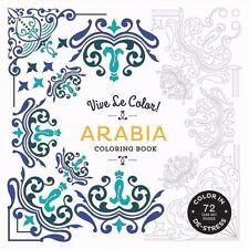 Vive Le Color! Arabia Coloring Book  VeryGood