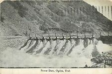 Utah, UT, Ogden, Power Dam 1908 Postcard