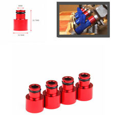 Red 4pcs Fuel Injector For 410cc(38 psi) and 550cc (70psi) Fit 88-91 Honda civic