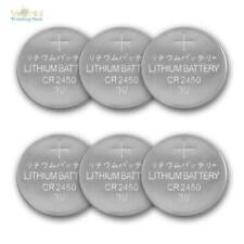 CR2450 Lithium Batterien, Knopfzellen 6er Pack, Ersatzbatterie 3 Volt 3V 550mAh