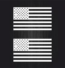 2x autocollant sticker voiture moto drapeau usa etats unis americain blanc