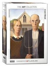 Grant Wood's American Gothic 1000 Piece Jigsaw Puzzle 680mm x 490mm (pz)