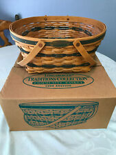 1996 Longaberger Traditions Community Basket with protector, Nib - Free Ship