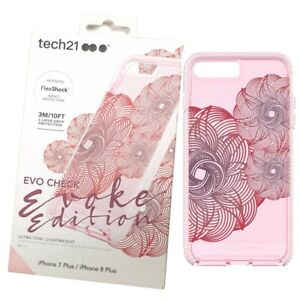 Evo Check Case Cover For iPhone 7 Plus/8 Plus Pink Red FlexShock Evoke Edition