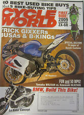 Cycle World Magazine February 2009 Kawasaki ZX-6R Yamaha WR250R Kawasaki KLX250S