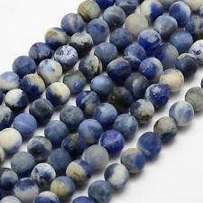Natural Frosted Sodalite 6mm Loose Beads Dyed Round