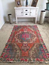 """Vintage Oushak Wool Turkish Handmade Rug, 6'9""""x 4'4"""" Free Shipping!"""