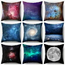 Night Sky Stars Shining Gorgeous Nebula Dreamy Galaxy Fantasy Cushion Cover