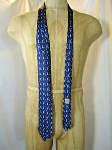 "HERMES Bear  3.5"" x 62"" 100% silk Neck Tie"