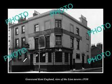 OLD LARGE HISTORIC PHOTO GRAVESEND KENT ENGLAND, THE LION TAVERN c1930