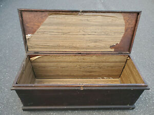 ANTIQUE SOLID WOOD, EQUINE TACK BOX, BLANKET STORAGE TRUNK, HOPE CHEST, TOY BOX