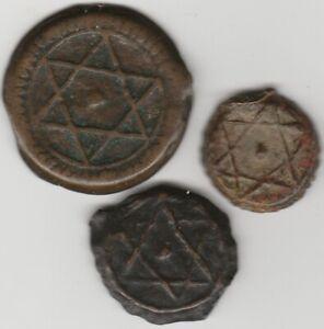 Marokko.3 x versch.Falus.19te Jahrhundert.!!#47