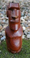 "A Nice Older Easter Island Hardwood Moai Tiki Figure 8""h x 3""w"