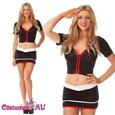 SAILOR UNIFORM COSTUME Ladies Fancy Dress Up Womens Halloween Fancy Dress Outfit