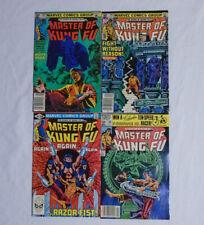 MASTER OF KUNG-FU #103 104 105 106 * Marvel Comics Lot * 4 Comics - Razor Fist