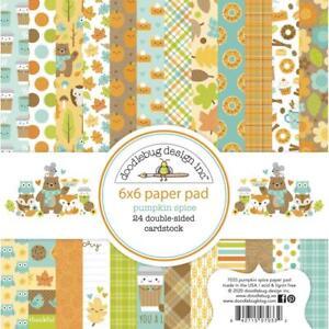 Autumn Fall PUMPKIN SPICE 6x6 Inch Paper Pad 24 Sheet DOODLEBUG 7033 New