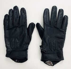 •Harley Davidson Motorcycle Leather Riding Gloves•Womens Small•Biker•Sturgis•