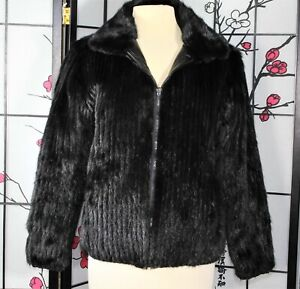 REVERSIBLE MINK FUR and LEATHER JACKET, large CASUAL CAREER