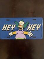 RARE Krusty The Clown The Simpsons 2002 Car License Plate Tag Chroma