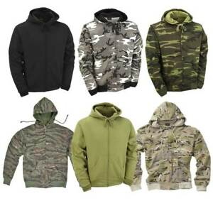 Hoodie Army Combat Military Style US Tiger Snow Camo Hunting Fishing Work Black