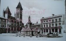 PRINT 10 X 7  TOWN HALL AND QUEEN STATUE NEWBURY BERKSHIRE c1902